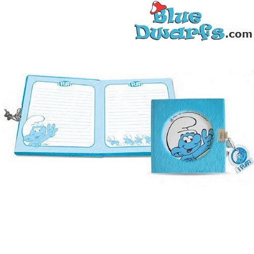 Smurf diary blue (14x14 cm)