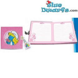 Smurf diary pink (14x14 cm)