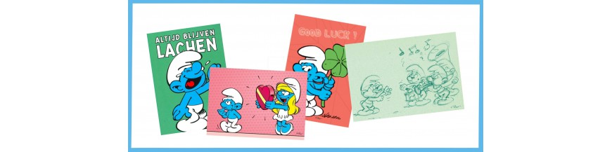 Smurf postcards