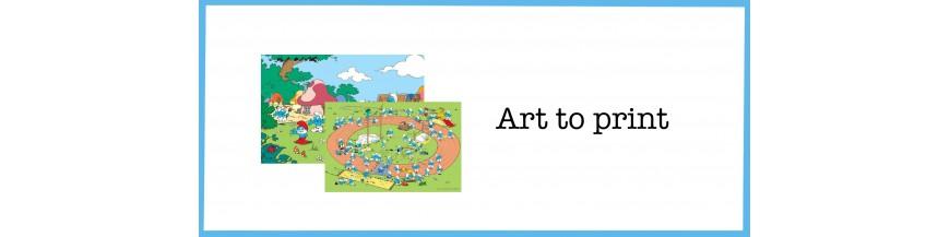 Art To Print Smurf wall art