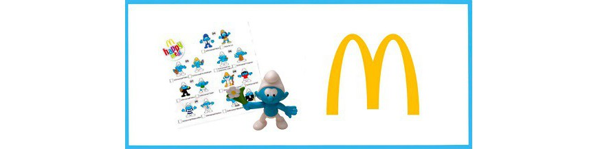 Mc Donalds smurfs 2018