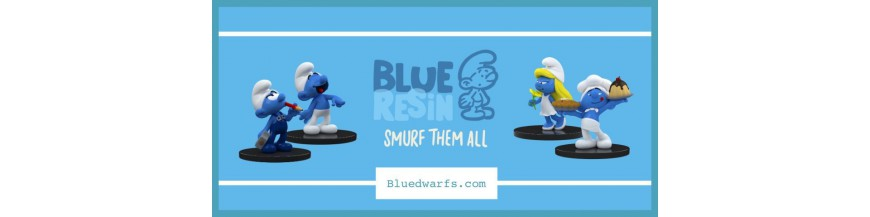 Blue Resin smurf statues
