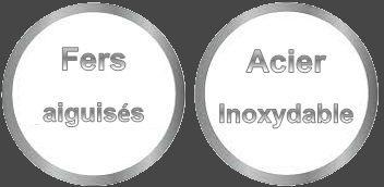 fers aiguises acier inoxydable aluminium fermeture fermeture a vis